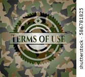 terms of use on camouflaged...