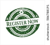 green register now with rubber... | Shutterstock .eps vector #586788191
