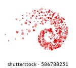 abstract decoration of red... | Shutterstock .eps vector #586788251