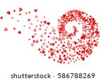 abstract decoration of red... | Shutterstock .eps vector #586788269