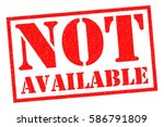 not available red rubber stamp... | Shutterstock . vector #586791809