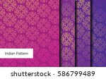 indian pattern   detailed and... | Shutterstock .eps vector #586799489