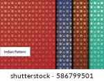 indian pattern   detailed and... | Shutterstock .eps vector #586799501