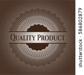 quality product retro style... | Shutterstock .eps vector #586802879
