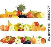 three fruit design borders... | Shutterstock .eps vector #58680307