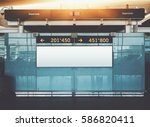 blank electronic departures and ... | Shutterstock . vector #586820411