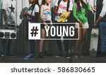 hashtag young attitude youth... | Shutterstock . vector #586830665