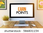 computer screen concept   earn...   Shutterstock . vector #586831154