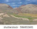 john day fossil beds national... | Shutterstock . vector #586832681