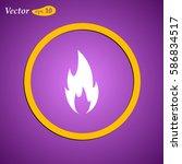 fire icon. web design style