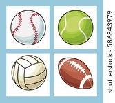 collection balls sport icons | Shutterstock .eps vector #586843979