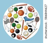 sport accessories equipment icon | Shutterstock .eps vector #586844627