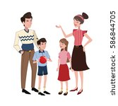 family relation happy | Shutterstock .eps vector #586844705