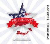 presidents day    Shutterstock .eps vector #586853045