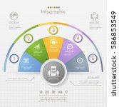 infographics design template... | Shutterstock .eps vector #586853549