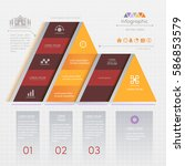 infographics triangle design... | Shutterstock .eps vector #586853579