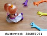 concept of a child represented... | Shutterstock . vector #586859081