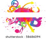 abstract colorful background | Shutterstock .eps vector #58686094