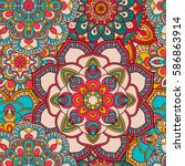 Seamless Mandala Pattern For...