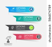 modern infographics business...   Shutterstock .eps vector #586874789