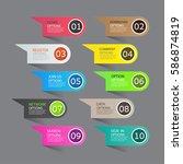 set of banner templates. modern ...   Shutterstock .eps vector #586874819