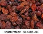 raisins as background grape...   Shutterstock . vector #586886201