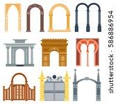 arch design architecture... | Shutterstock .eps vector #586886954