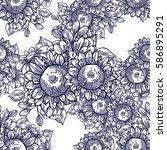 abstract elegance seamless... | Shutterstock .eps vector #586895291