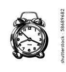 alarm clock   retro clip art | Shutterstock .eps vector #58689682