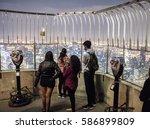 new york  usa   october 17 ... | Shutterstock . vector #586899809
