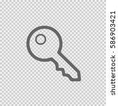 key vector icon eps 10. car key ... | Shutterstock .eps vector #586903421
