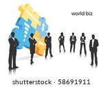 business concept | Shutterstock .eps vector #58691911