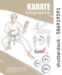karate infographic vector. hand ... | Shutterstock .eps vector #586919591