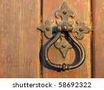 a large decorative vintage door ... | Shutterstock . vector #58692322