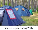 Camping And Tents On The Grass...