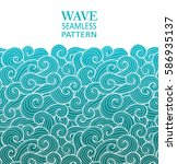 seamless abstract pattern.... | Shutterstock .eps vector #586935137