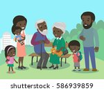 big african family characters... | Shutterstock .eps vector #586939859