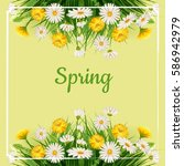 fresh spring background bouquet ... | Shutterstock .eps vector #586942979