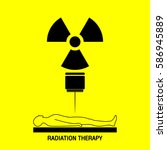 radiation therapy medical logo... | Shutterstock .eps vector #586945889