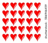 red hearts. pattern for love... | Shutterstock .eps vector #586946459