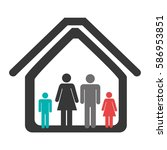 color pictogram with family in... | Shutterstock .eps vector #586953851