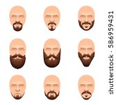 hipster mustache and beards... | Shutterstock .eps vector #586959431