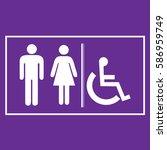 restroom sign icons  ... | Shutterstock .eps vector #586959749