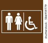 restroom sign icons  ... | Shutterstock .eps vector #586959779