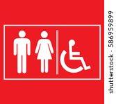 restroom sign icons  ... | Shutterstock .eps vector #586959899