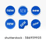 new sticker set. vector sale... | Shutterstock .eps vector #586959935