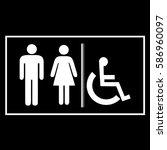 restroom sign icons  ...   Shutterstock .eps vector #586960097