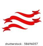 ribbon set design  used of... | Shutterstock .eps vector #58696057