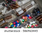 close up view of pharmaceutical ... | Shutterstock . vector #586963445