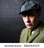 sherlock holmes | Shutterstock . vector #586964525